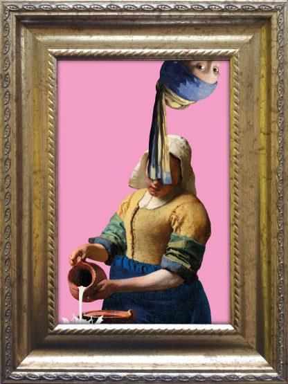 Baroklijstje Vermeer Parelmeisje Melkmeisje - Miauw