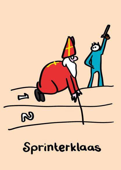 Postkaart sinterklaas - Sprinterklaas - Miauw