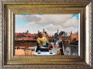 Baroklijstje -Zicht familie - Vermeer meisjes - Miauw