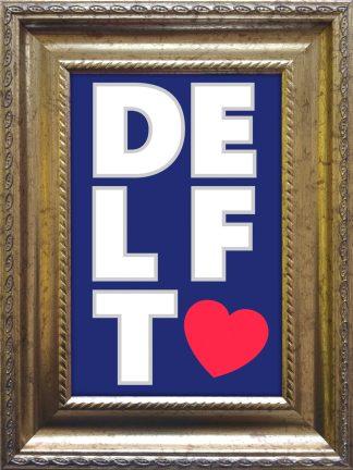 I Love Delft baroklijstje - souvenir