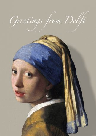 postcard vermeer girl with a pearl earring greetings from delft