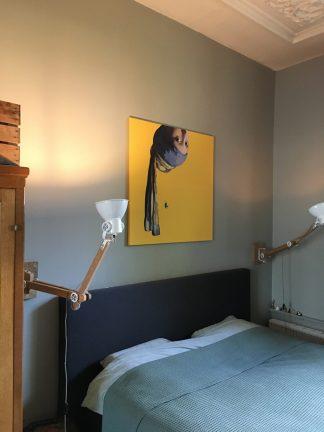 canvas vermeer meisje met de parel ondersteboven decoratie kado