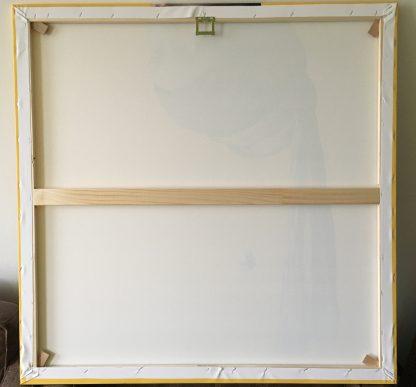 canvas vermeer meisje met de parel ondersteboven decoratie groot achterkant