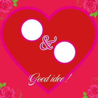 grappige diy valentijnskaart eigen fotos valentijnskado