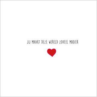 luxe valentijnskaart gevouwen kaart met rode envelop 13x13cm valentijnsdag