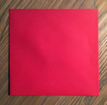 rode envelop valentijnskaart vouwkaart