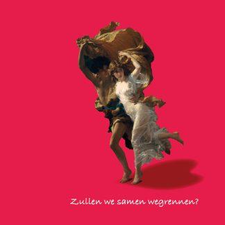 luxe kunst valentijnskaart Zullen we samen wegrennen - hart - verliefd