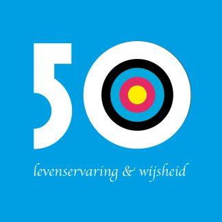 Gefeliciteerd 50 jaar - luxe vouwkaart - abraham zien - verjaardagskaart vijftig