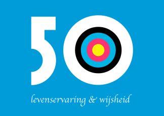 verjaardagskaart 50 vijftig jaar - levenservaring en wijsheid - jarig ansichtkaart