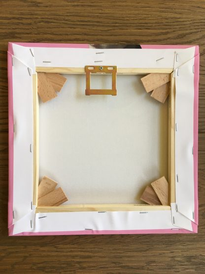 canvas achterzijde roze